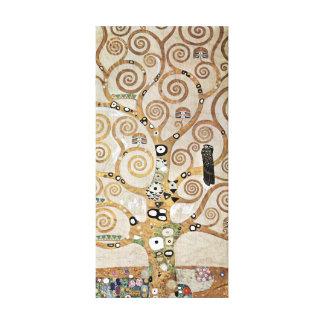 Impressão Em Tela Árvore de Gustavo Klimt de vida dourada com