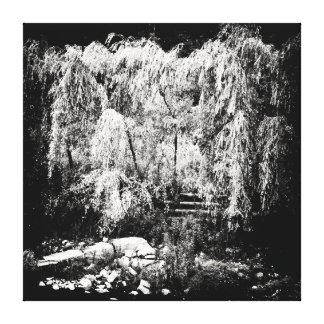 Impressão Em Tela Árvore de salgueiro Weeping dramática sobre o