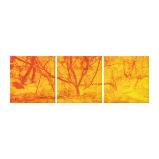Impressão Em Tela Árvore do por do sol do fogo da arte abstracta