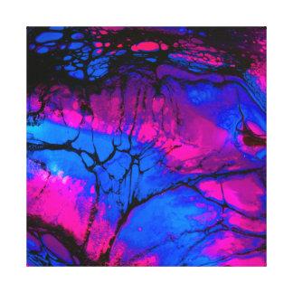 Impressão Em Tela Árvores assustadores em nivelar a arte acrílica