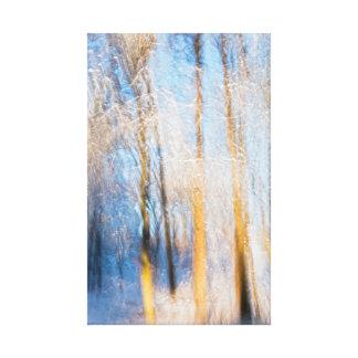 Impressão Em Tela Árvores do inverno