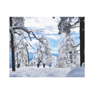 Impressão Em Tela Árvores nevado