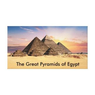Impressão Em Tela As grandes pirâmides de Egipto