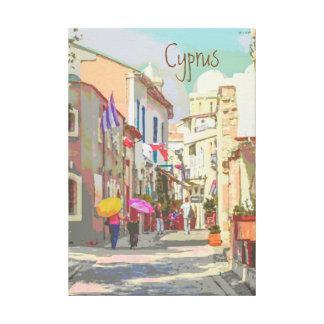 Impressão Em Tela As ruas traseiras do estilo do poster de viagens