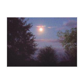 Impressão Em Tela ascensão completa da lua do lobo