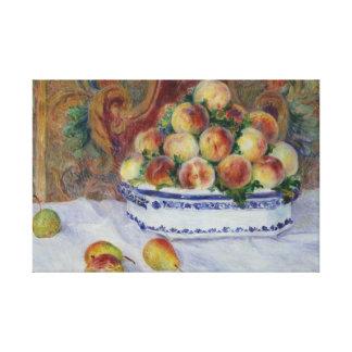 Impressão Em Tela Auguste Renoir - ainda vida com pêssegos