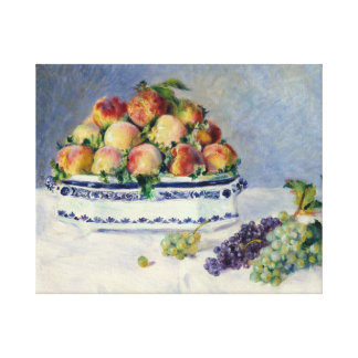 Impressão Em Tela Auguste Renoir - ainda vida com pêssegos e uvas