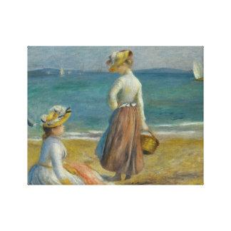 Impressão Em Tela Auguste Renoir - figuras na praia