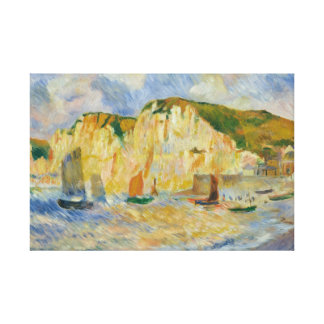 Impressão Em Tela Auguste Renoir - mar e penhascos