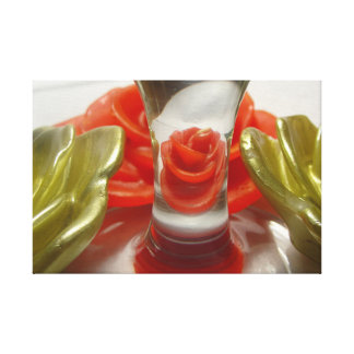 Impressão Em Tela Aumentaram as velas dadas forma e a base de vidro