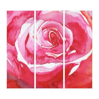 Impressão Em Tela Aumentou o abstrato alaranjado cor-de-rosa