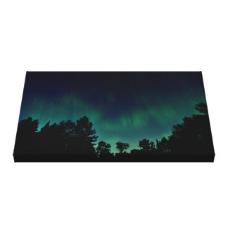 Impressão Em Tela Aurora boreal - foto do céu nocturno de Borealis