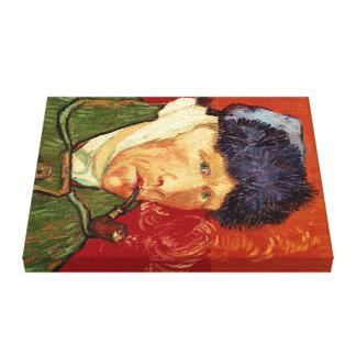 Impressão Em Tela Auto-retrato de Van Gogh com orelha e a tubulação