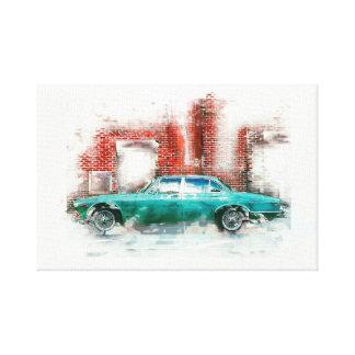 Impressão Em Tela Automóvel. Grunge desenhos, aguarela