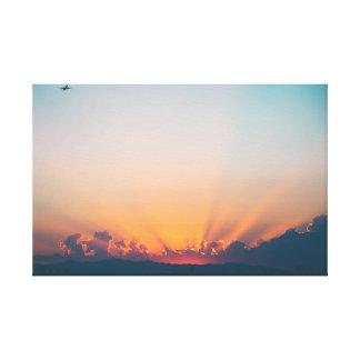 Impressão Em Tela Aviões do céu | do nascer do sol |