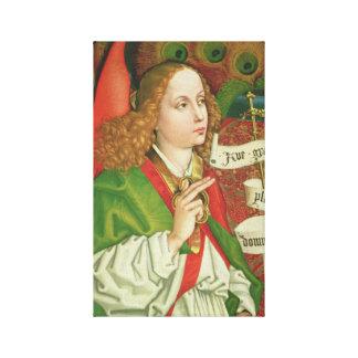 Impressão Em Tela Aviso de Gabriel do arcanjo - Martin Schongauer
