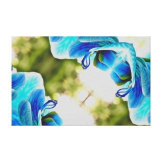 Impressão Em Tela Azul da orquídea