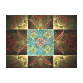 Impressão Em Tela Azul de Brown e abstrato metálicos do ouro