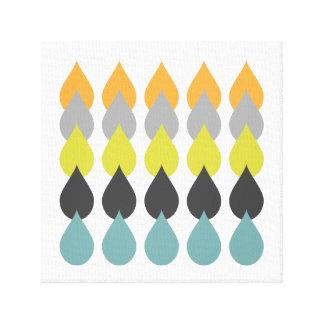 Impressão Em Tela Azul retro do amarelo alaranjado