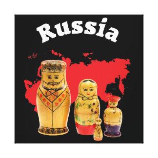 Impressão Em Tela Babuschka Matrjoschka Matryoshka linho