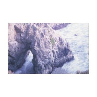 Impressão Em Tela Baía da adega, rocha do oceano de Califórnia