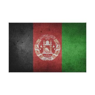 Impressão Em Tela Bandeira afligida de Afeganistão