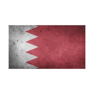 Impressão Em Tela Bandeira afligida vintage de Barém