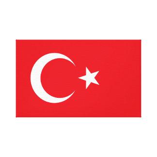 Impressão Em Tela Bandeira de Turquia