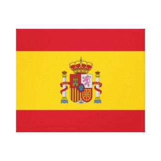 Impressão Em Tela Bandeira espanhola