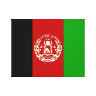 Impressão Em Tela Bandeira nacional do mundo de Afeganistão