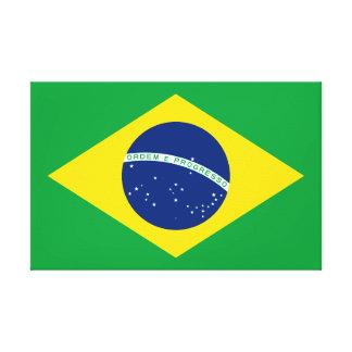 Impressão Em Tela Bandeira nacional do mundo de Brasil