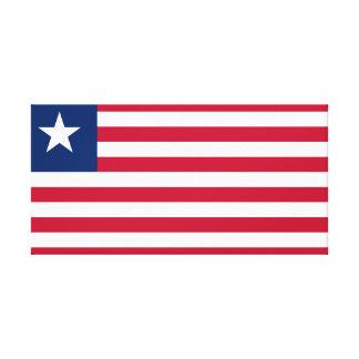 Impressão Em Tela Bandeira nacional do mundo de Liberia