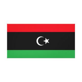 Impressão Em Tela Bandeira nacional do mundo de Líbia