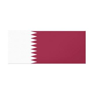 Impressão Em Tela Bandeira nacional do mundo de Qatar