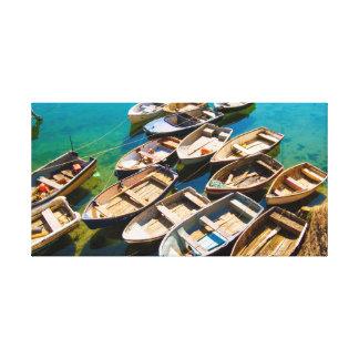 Impressão Em Tela Barcos de enfileiramento