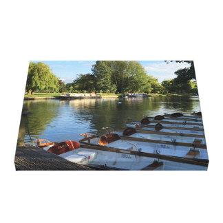 Impressão Em Tela Barcos de fileira no rio, Stratford em cima de