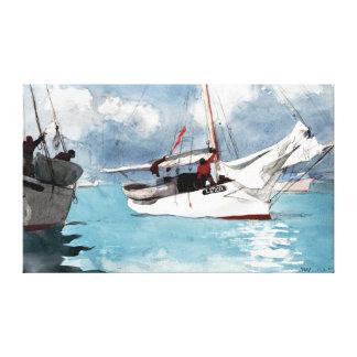 Impressão Em Tela Barcos de pesca de Winslow Homer, Key West