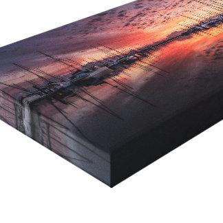 Impressão Em Tela Barcos de vela no por do sol