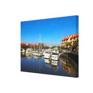 Impressão Em Tela Barcos no SC de Hilton Head Island do porto da