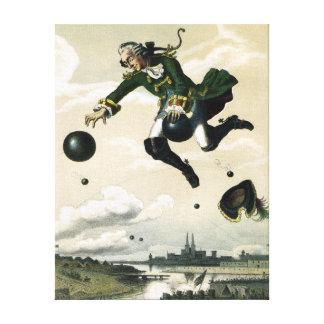 Impressão Em Tela Baron alemão Munchausen Aventura do vintage
