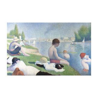 Impressão Em Tela Bathers de Georges Seurat em Asnières