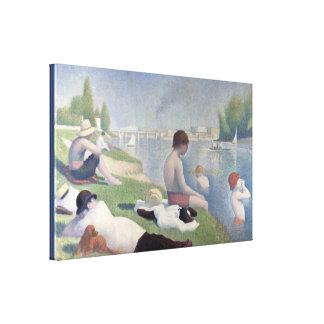 Impressão Em Tela Bathers em Asnieres por Georges Seurat