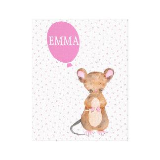 Impressão Em Tela Bebê bonito do rato da floresta/canvas dos miúdos