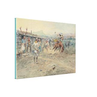 Impressão Em Tela Belas artes o pé macio por Charles Marion Russell