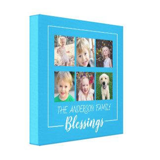 Impressão Em Tela Bênçãos da família | colagem de 6 fotos