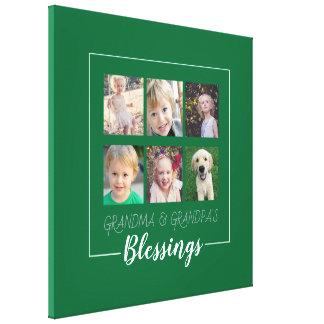Impressão Em Tela Bênçãos das avós | 6 fotos no verde