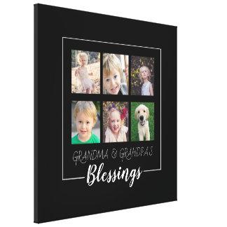 Impressão Em Tela Bênçãos das avós | Natal de 6 fotos