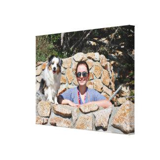 Impressão Em Tela Bennett - mini australiano - Rosie - praia de