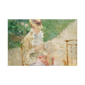 Impressão Em Tela Berthe Morisot - confecção de malhas da jovem