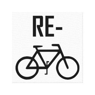 Impressão Em Tela Bicicleta da bicicleta do reciclar